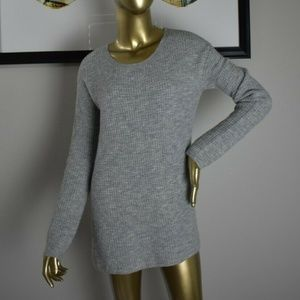 BB DAKOTA Heather Gray Sweater Pullover Womens S